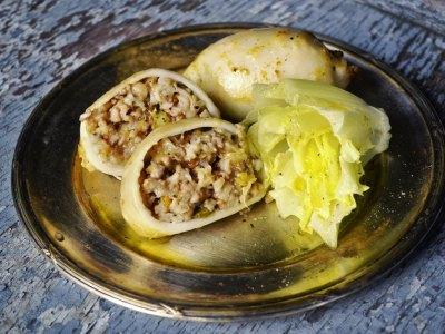 Καλαμαράκια γεμιστά με λαχανικά και ρύζι, συνταγή-όνειρο!